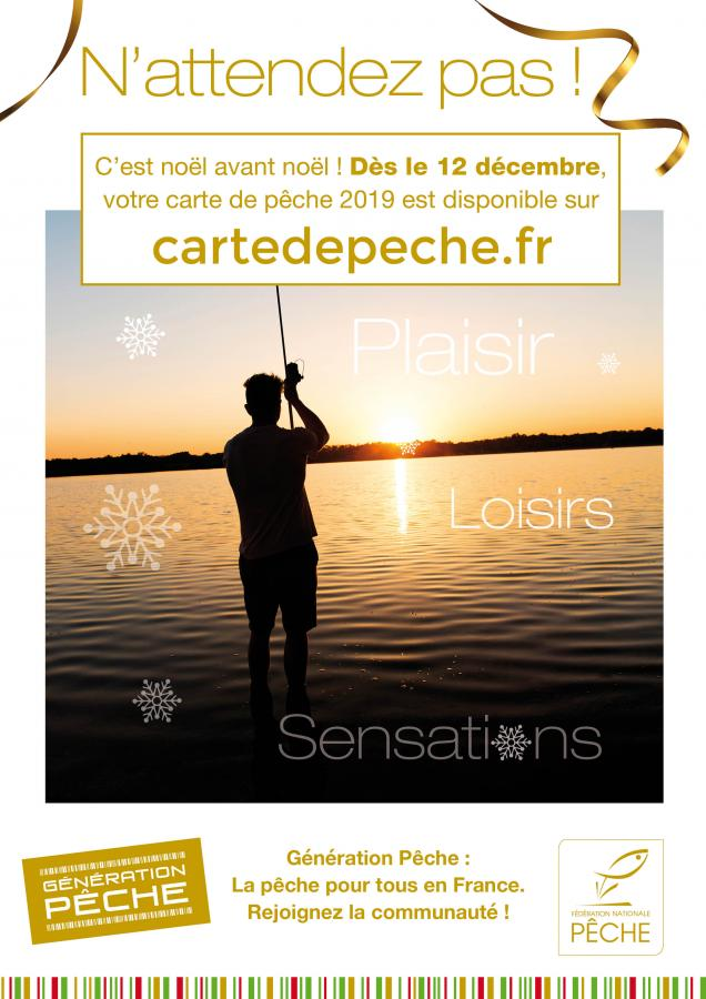 Carte de pêche 2019 disponible !
